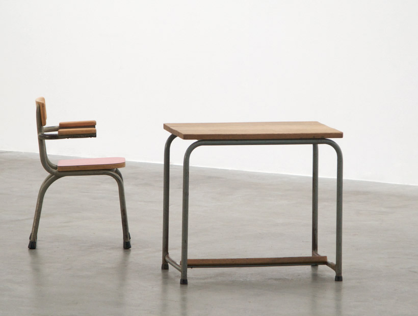 Industrial school desk and chair for children Tubax