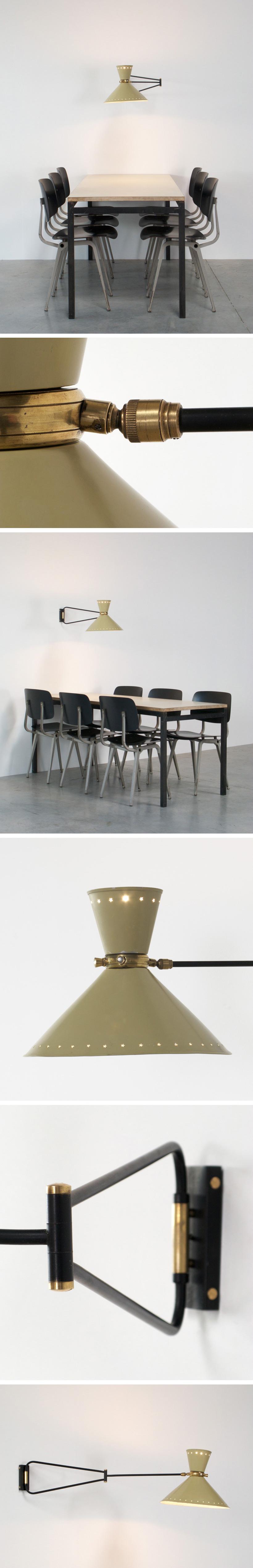 Industrial swing lamp Pierre Guariche Large