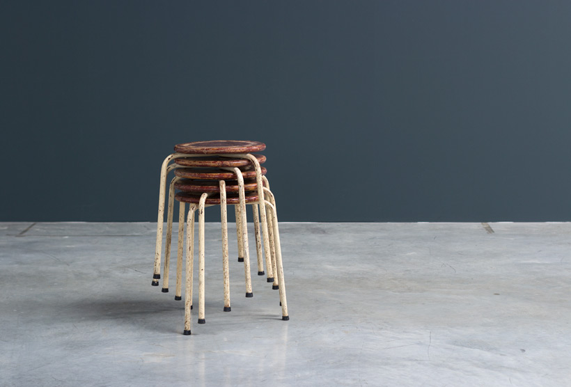 Industrial tree legged stools 1950