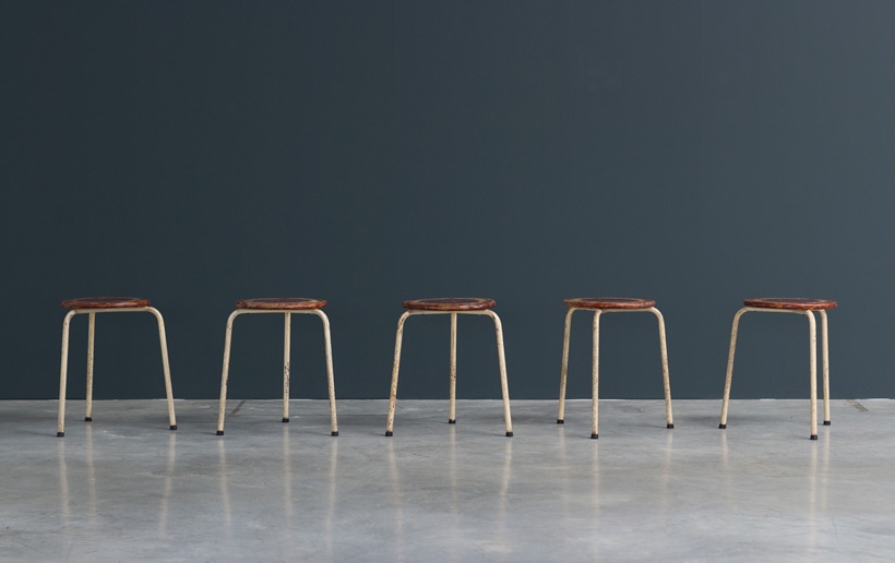 Industrial tree legged stools 1950 Large