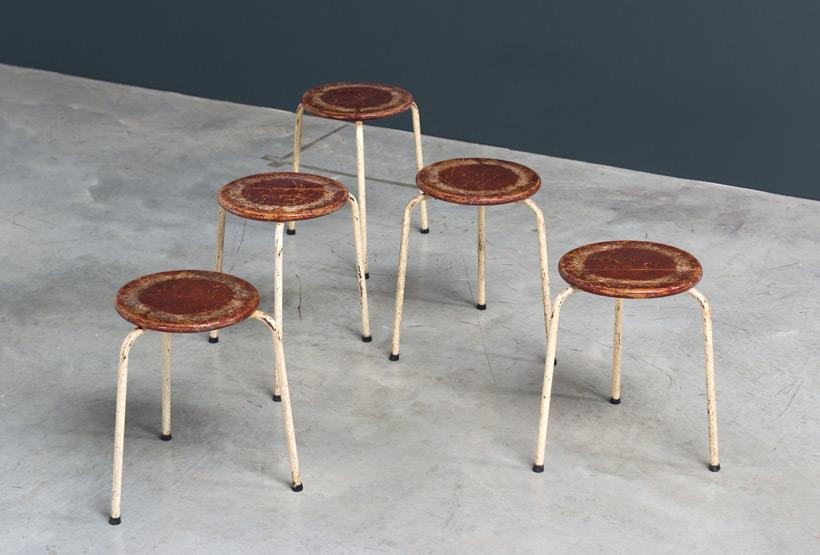 Industrial tree legged stools 1950 img 5