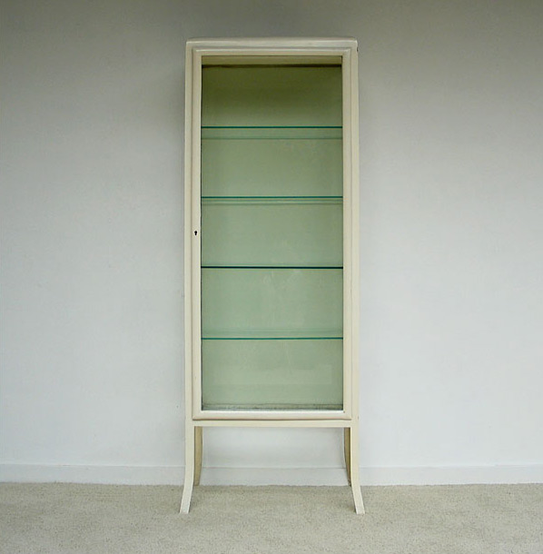 Industrial white Medical Surgery cupboard 1950