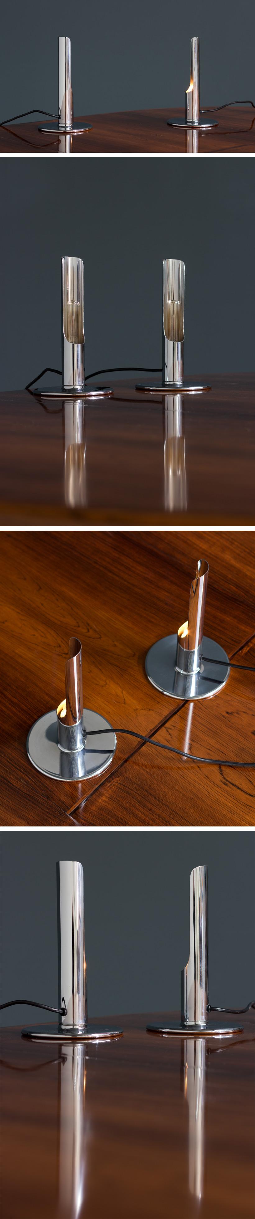 Ingo Maurer Pair table lamps model Prix for M Design Large