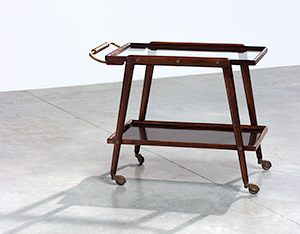 Italian bar cart Tea Trolley with serving tray 1950