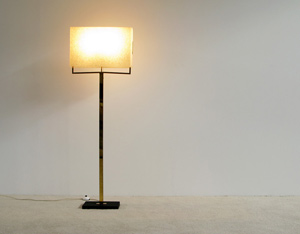 Italian brass floor lamp