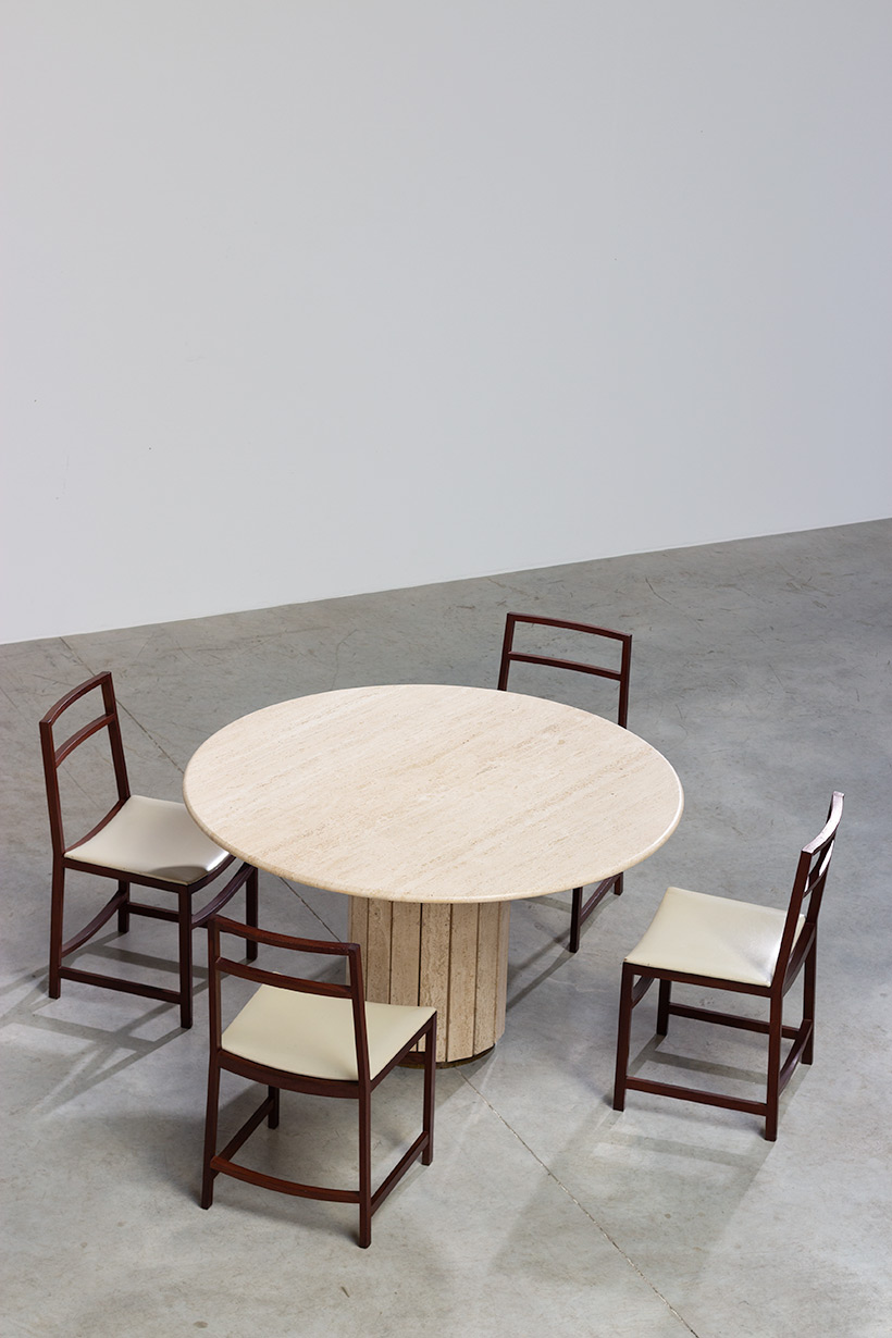 Jean Charles Modern Travertine dining table or console circa 1970