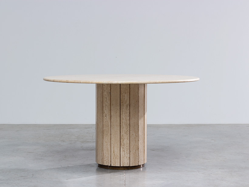 Jean Charles Modern Travertine dining table or console circa 1970 img 3