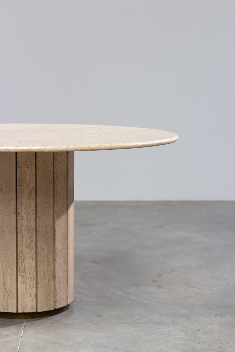 Jean Charles Modern Travertine dining table or console circa 1970 img 5