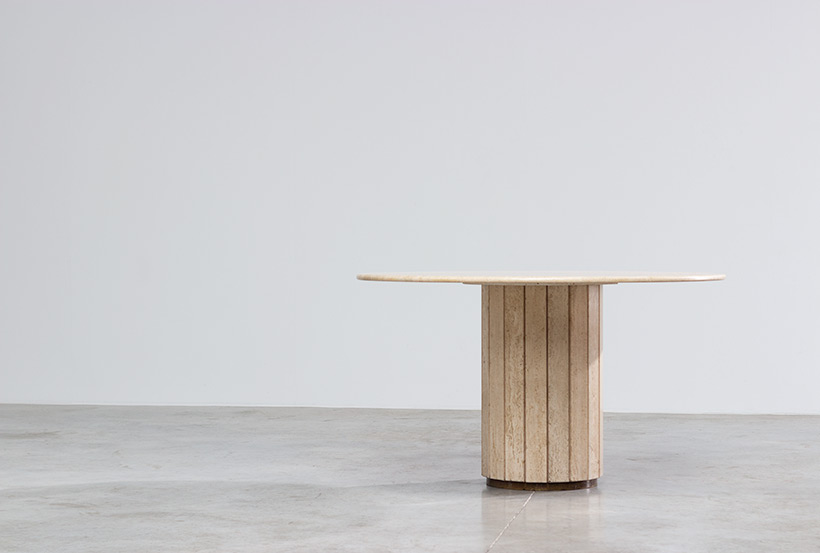 Jean Charles Modern Travertine dining table or console circa 1970 img 7