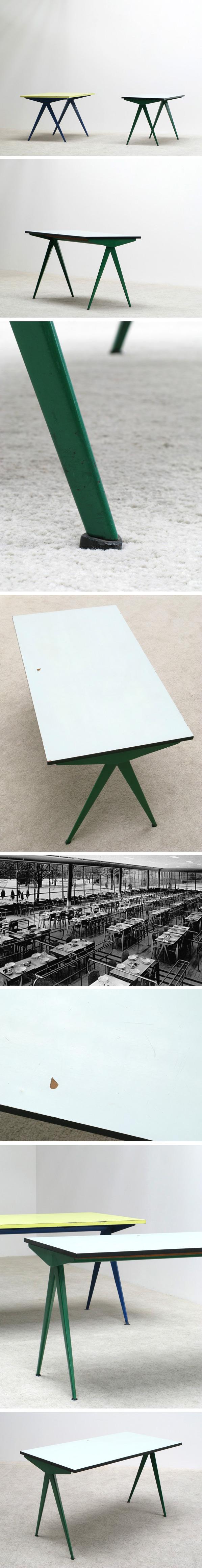 Jean Prouve Cafeteria Compas table Large