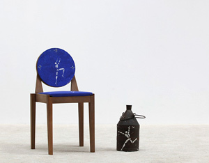 Jerome Mesnager Corps Blanc painting on chair