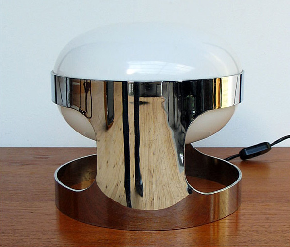 Joe Colombo Chrome KD27 Space Age Light Bulb 1960