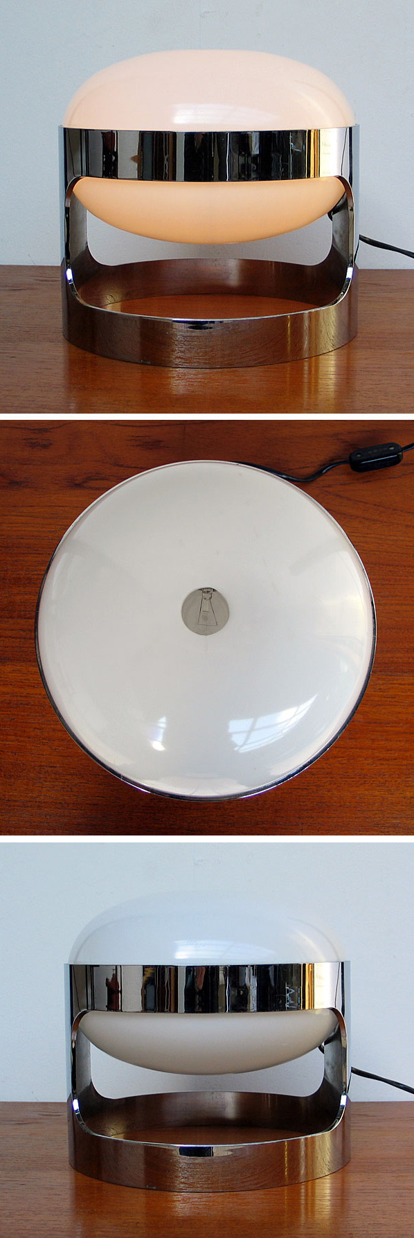 Joe Colombo Chrome KD27 Space Age Light Bulb 1960 Large