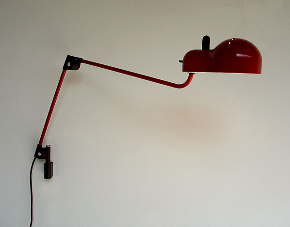 Joe Colombo Red Topo office lamp Stilnovo