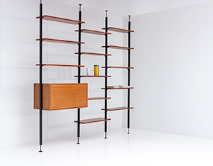 Jos De Mey Modernist Wall Unit with desk for Van den Berghe-Pauvers