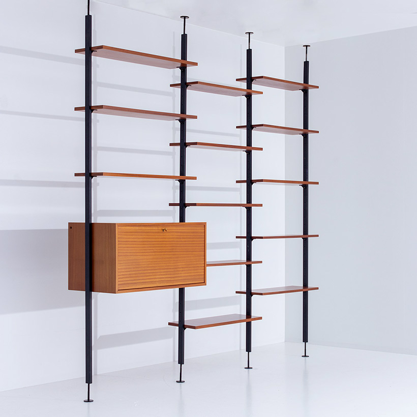 Jos De Mey Modernist Wall Unit with desk for Van den Berghe-Pauvers img 3