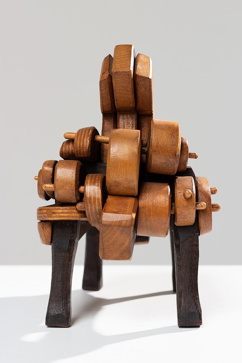 Jose Subira-Puig Sculpture patined oak signed