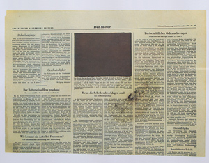 Joseph Beuys Der Motor Color offset lithograph