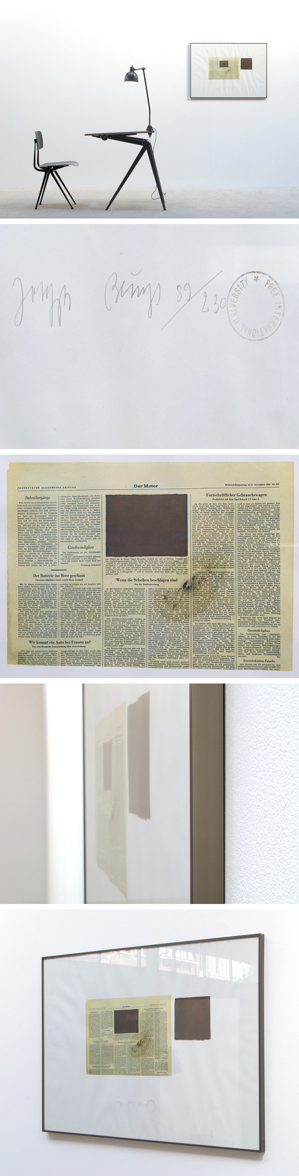 Joseph Beuys Der Motor Color offset lithograph Large