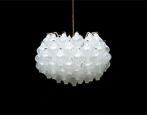 Kalmar crystal glass chandelier light sculpture 1960