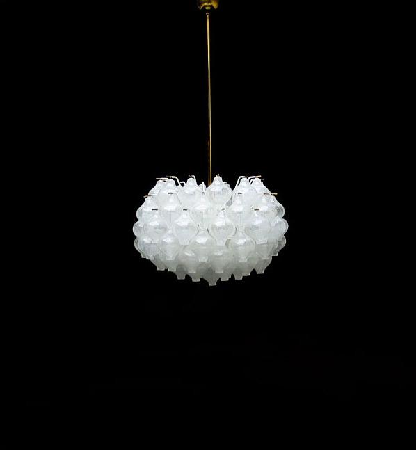 Kalmar crystal glass chandelier light sculpture 1960