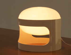 KD27 Joe Colombo Kartell White table lamp