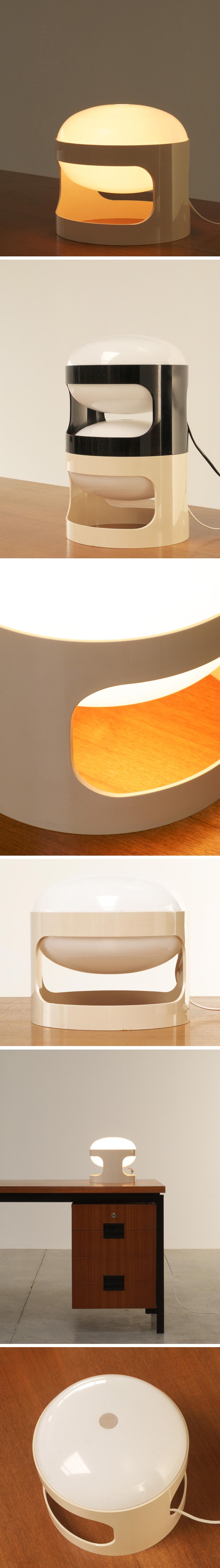 KD27 Joe Colombo Kartell White table lamp Large