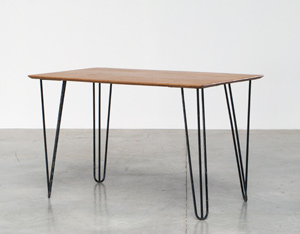 Kitchen table or Desk with Hairpin legs