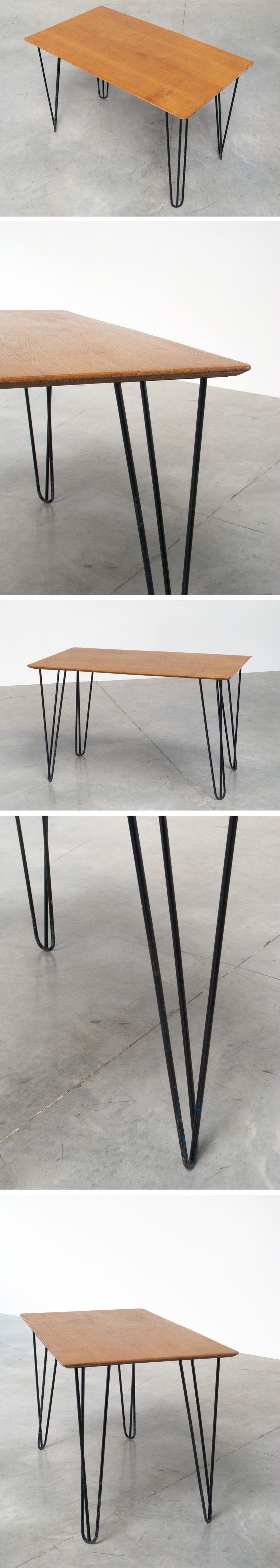 Kitchen table or Desk with Hairpin legs Large