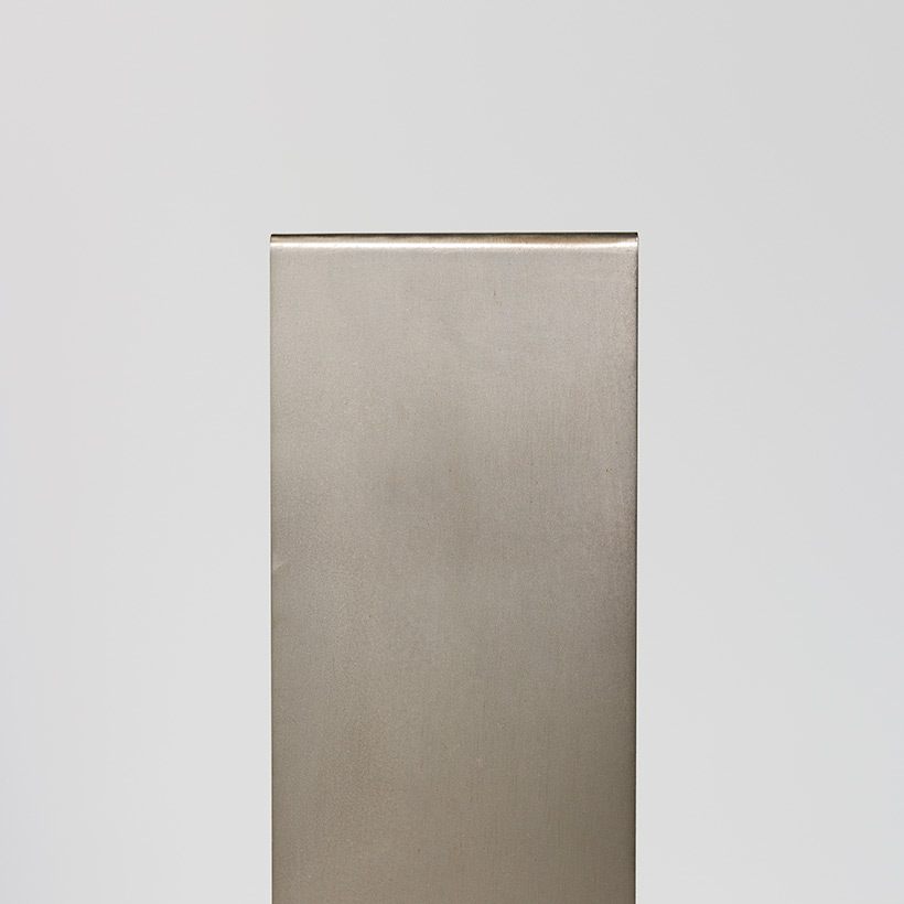 Lamp with brushed steel frame and spiral Murano glass 1970 img 3