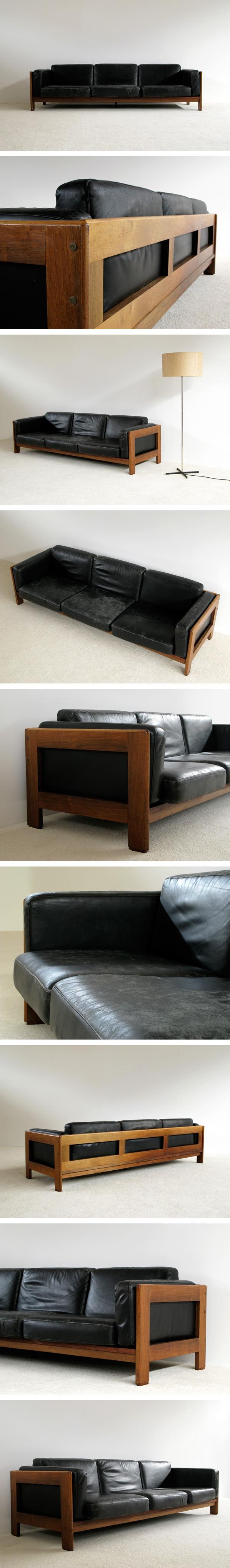 Large leather Rosewood 4 seater Bastiano Large