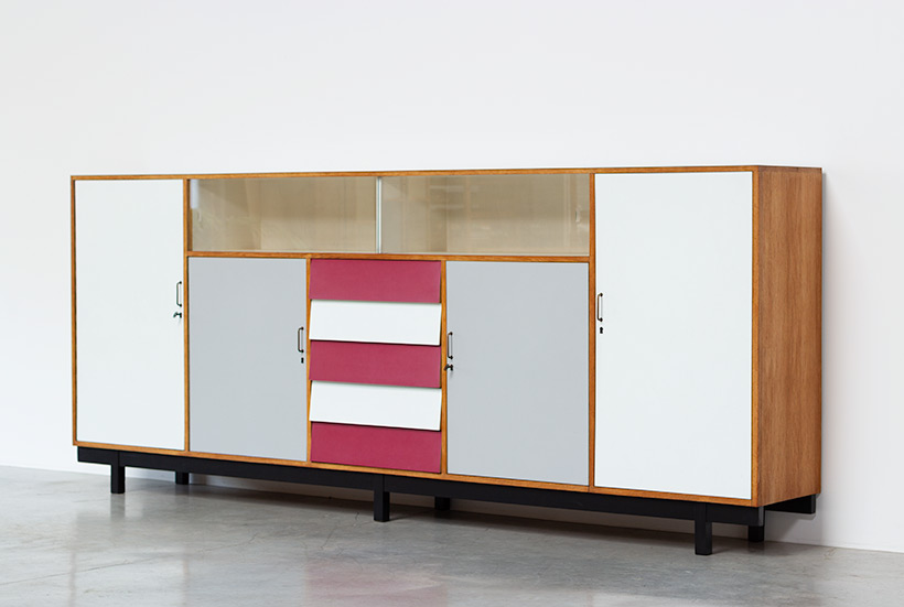 Large modernism Formica sideboard with a play of colors circa 1950 img 3