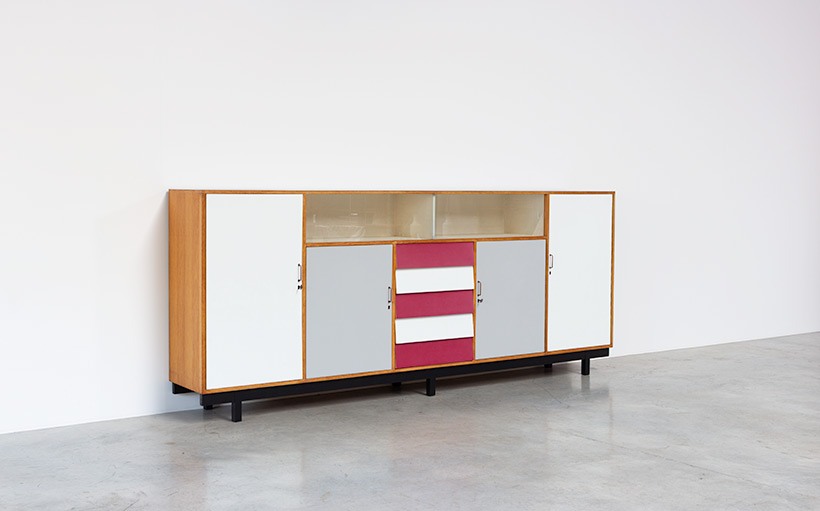 Large modernism Formica sideboard with a play of colors circa 1950 img 7