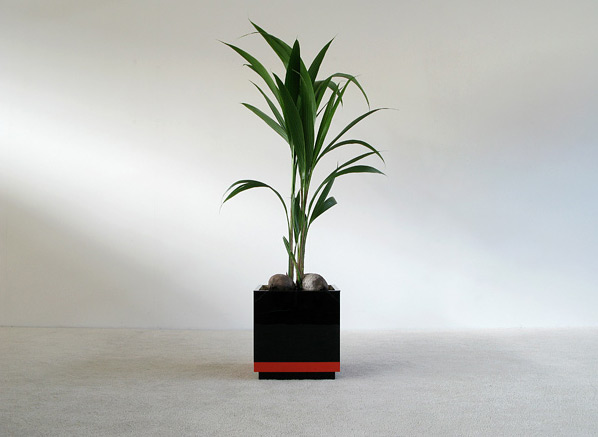 Large square Plexi Planter circa 1970