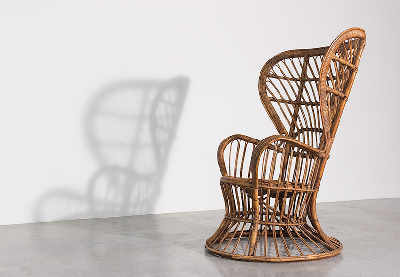 Lio Carminati and Gio Ponti Wicker chair for Vittorio Bonacina 1950 img 3