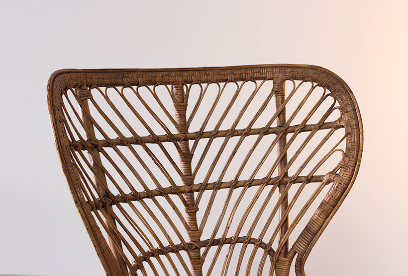 Lio Carminati and Gio Ponti Wicker chair for Vittorio Bonacina 1950 img 5