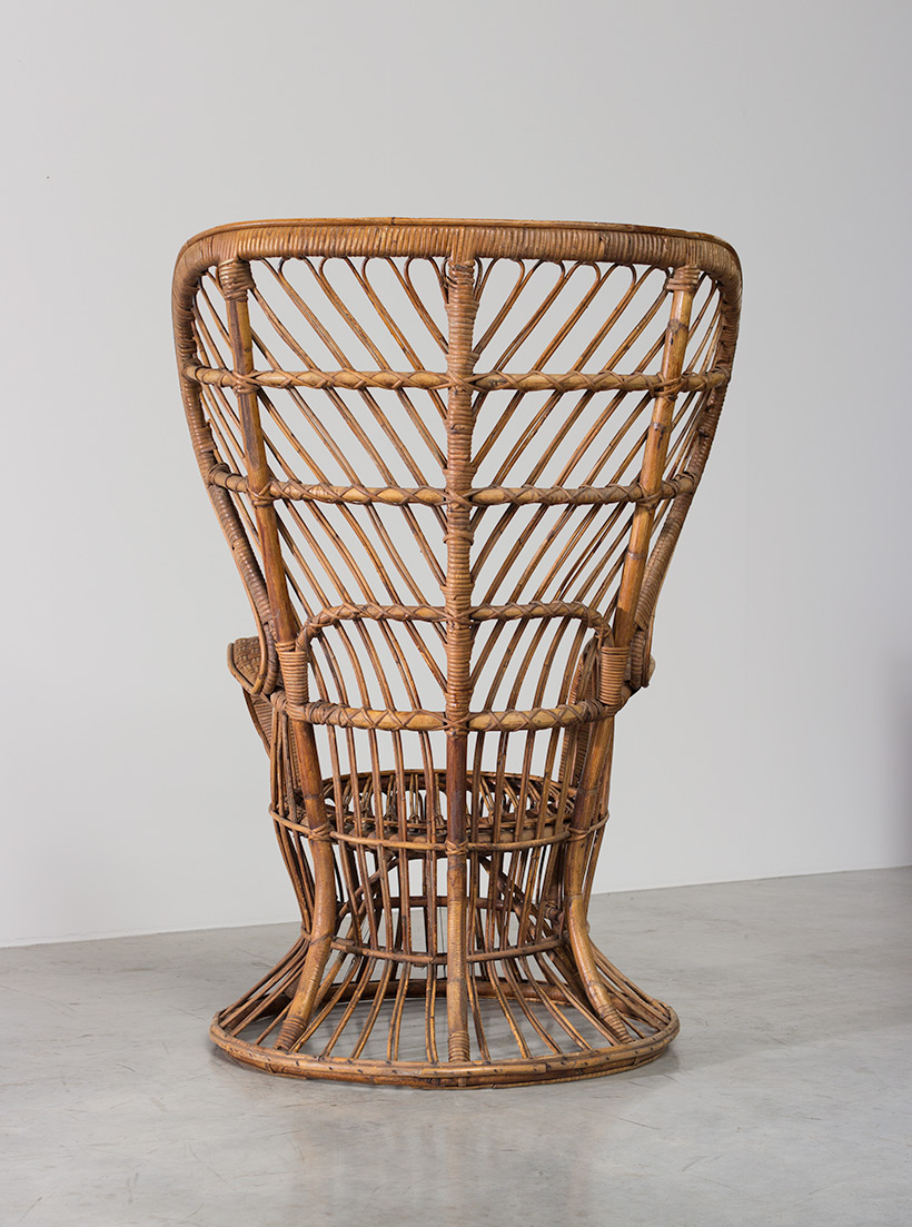 Lio Carminati and Gio Ponti Wicker chair for Vittorio Bonacina 1950 img 6