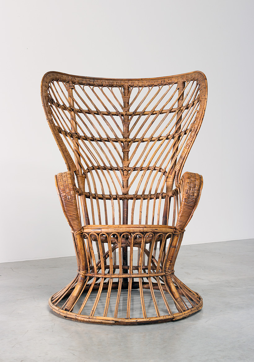 Lio Carminati and Gio Ponti Wicker chair for Vittorio Bonacina 1950 img 7