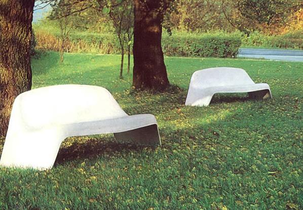 Long garden park bench Walter Papst Wilkhahn