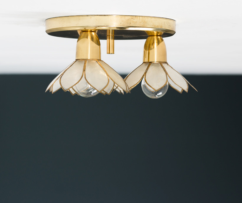 Lotus flower ceiling lamp Mother of Pearl Boulanger img 6