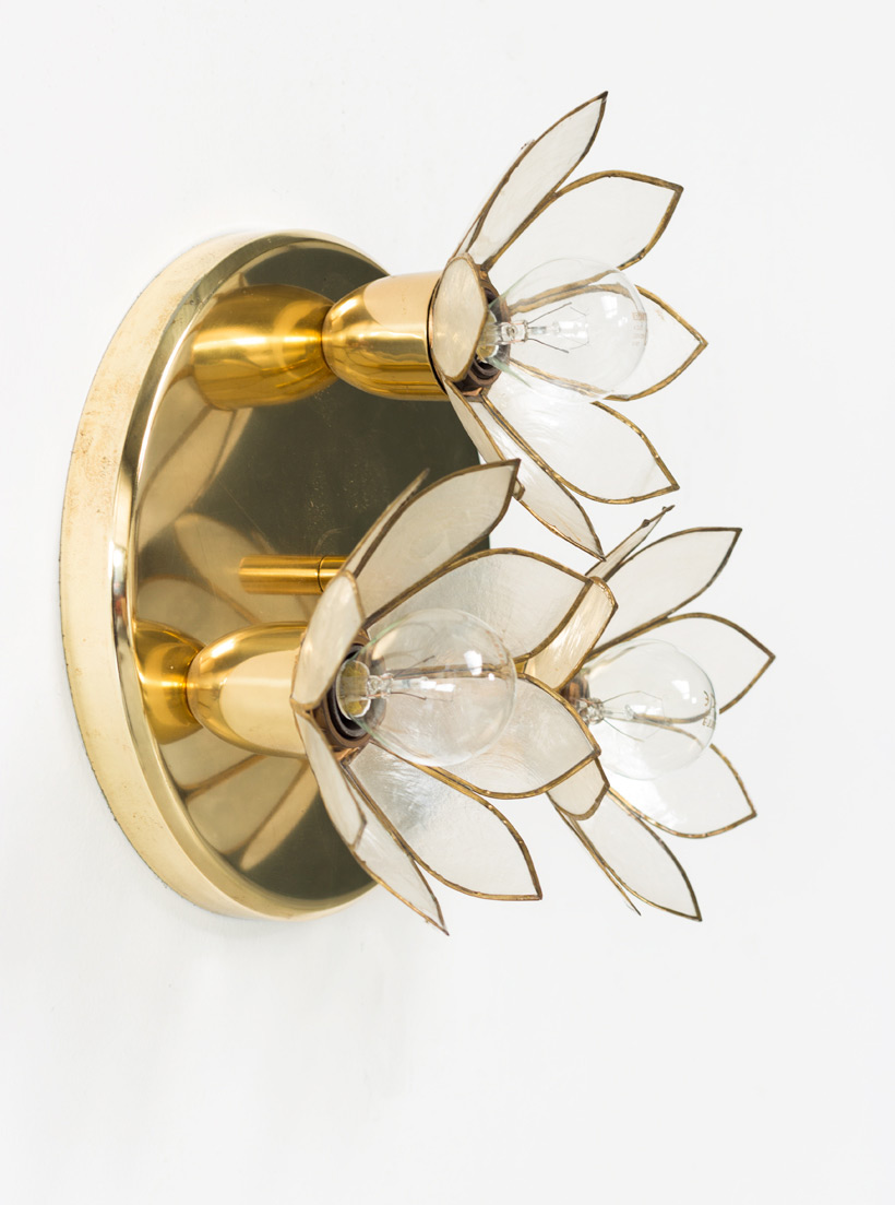 Lotus flower ceiling lamp Mother of Pearl Boulanger img 7