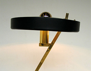 Louis Kalff desk lamp Philips with UFO shade