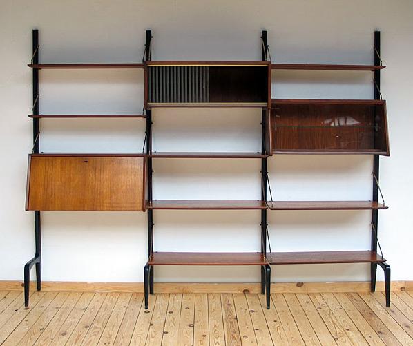 Louis van Teeffelen teak Modern Wall Unit