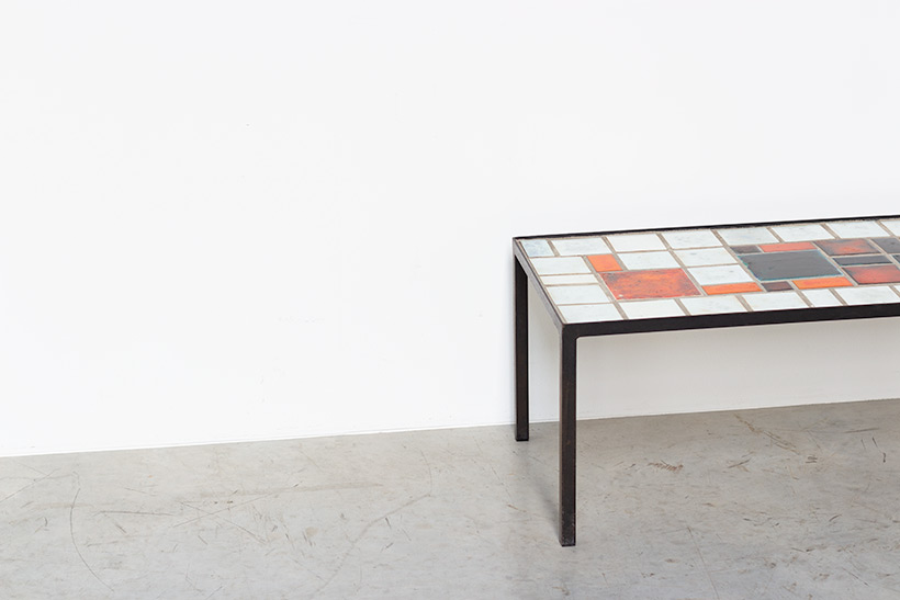 Louise Servaes Ceramic coffee table circa 1965 Member of the G 58 group img 5