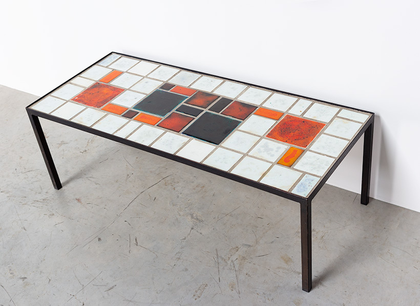 Louise Servaes Ceramic coffee table circa 1965 Member of the G 58 group img 7
