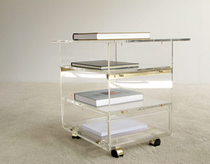 Lucite trolley Karl Springer