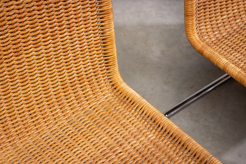 Ludwig Mies van der Rohe four MR10 woven cane chairs by Thonet img 8