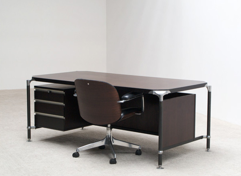 Luisa and Ico Parisi for MIM executive desk and chair