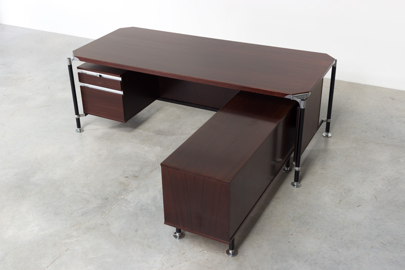 Luisa and Ico Parisi rosewood direction desk for Mobili Italiani Moderni