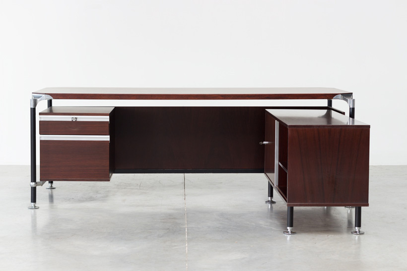 Luisa and Ico Parisi rosewood direction desk for Mobili Italiani Moderni Large